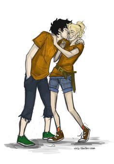 Percy and Annabeth Fan Art!!!! Hate it when people ship anyone but these two!! ;P
