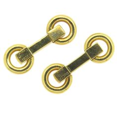 f3fc5808c17 Gucci Mid Century Gold Cufflinks
