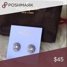Beautiful kate spade earring New silver tone earring. Will comes with dust bag. kate spade Jewelry Earrings