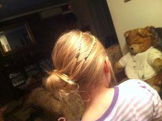 Did little sissies hair tonight love it amazing