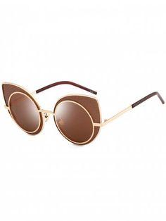 089073ea1e7 Anti UV Rhinestone Embellished Metal Frame Cat Eye Sunglasses. Color  LensesAnti ...
