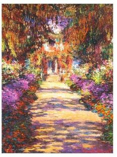 Love Monet. Would look good with a gold frame. #monet #artwork #impressionism #ad