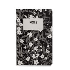 Design Letters  Small Flower Notebook: This cute little monochrome notebook is part of the AJ Vintage Flowers Collection from Design Letters. Celebrating the vintage typography of world renowned Danish designer Arne Jacobsen it features the delicate Scandinavian white rose, which inspired many of his floral print designs in the 1940's. It offers space for annotations, dates, and thoughts and is ideal for popping in your bag.