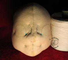 Утяжки кукольного лица, как сделать утяжки, текстильная шарнирная кукла, С любовью Марыся, Марыся Семицвет