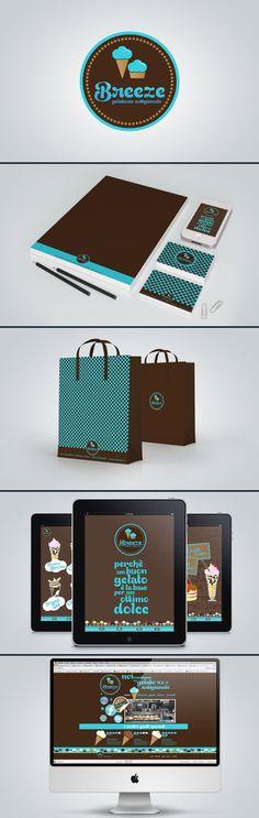 Breeze ice cream #identity #packaging #branding #marketing PD