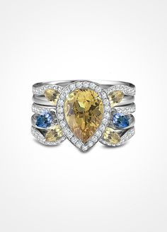This pear shaped stunner is the kind of ring you would simply have to show off at every opportunity.