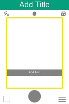 Snap Chat Style Photo Booth Frame  Digital File