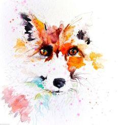 JEN BUCKLEY signed LIMITED EDITON PRINT of my original RED FOX - Jen Buckley Art