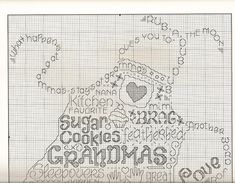 Let's go to Grandma's - Apron Word Cloud