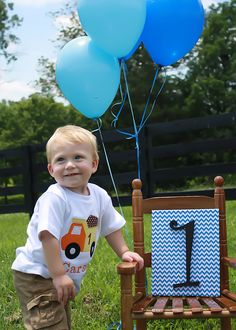 Boys first birthday picture