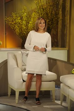 Katie wears this Adrienne Vittadini at Saks Fifth Avenue dress when she throws a baby shower!