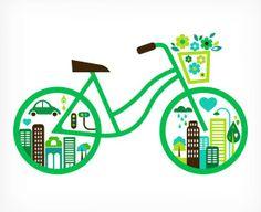 #Bicycle Eco vector