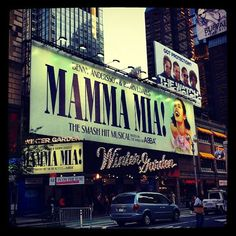 Mamma Mia, Broadway. Winter Garden Theater..it is an amazing show!!!