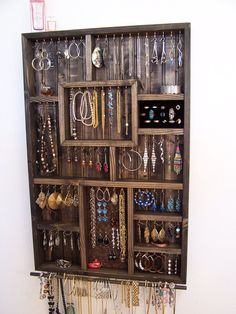 Apartment Jewelry Organizer With Bracelet Bar And Ring Holder Verticle Wall…