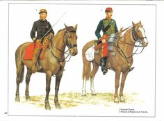 1:General Cavalry.2:Hussar,1st Regiment de Marche.