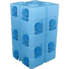 Set of 10 Waterbrick Stackable Water Food Ammo Storage Containers Free Spigot | eBay