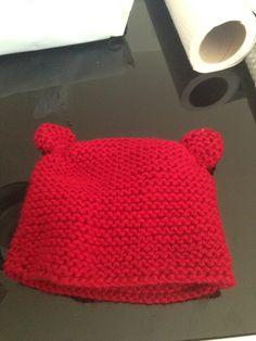 #gorro de #lana #rojo