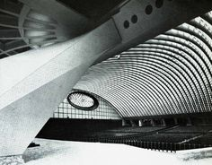 Buttress and roof structure of the Vatican Assembly Hall, Vatican City (circa 1972)  Studio Nervi, 1969-72