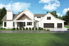 Looking for a modern farmhouse? Check out this cool and stylish country style home. It gives you farmhouse flair and cool curb appeal. Questions? Call 1-800-447-0027 today. #architect #architecture #buildingdesign #homedesign #residence #homesweethome #dreamhome #newhome #newhouse #foreverhome #interiors #archdaily #modern #farmhouse #house #lifestyle #designer Modern Farmhouse Plans, Farmhouse Design, Farmhouse Style, Country Style Homes, Plan Design, Building Design, New Homes, Floor Plans, How To Plan