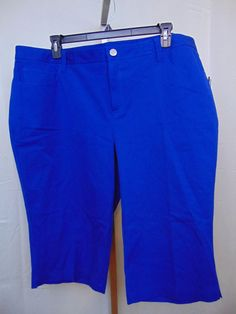 aa04e080d43 INC International Concepts Cropped Capri Pants Bright Blue Size 22W NEW   769  INCInternationalConcepts