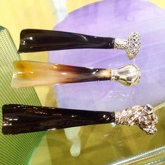 Calzante in corno e argento 925