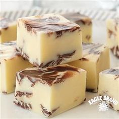 Chocolate Swirled Peppermint Fudge from Eagle Brand