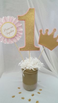 Personalized Princess Centerpiece Picks by CraftySistersPlus1