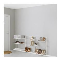 ALGOT Wandschiene/Böden/Schuhaufbewahrung, Metall weiß