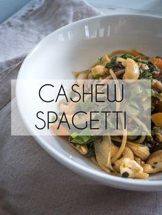 Nopeaa arkiruokaa | Kesäinen cashew spagetti - AITOA ARKIRUOKAA