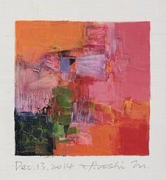 Dec. 13, 2014 - Original Abstract Oil Painting - 9x9 painting (9 x 9 cm - app. 4…