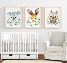 Puppy Nursery Theme, Baby Animal Nursery, Nursery Themes, Baby Animals, Nursery Decor, Australian Nursery, Australian Animals, Woodland Nursery, Woodland Animals