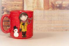 """Tazza Mug """"WINTER"""" con decorazione realizzata a mano di telasimona su Etsy"""