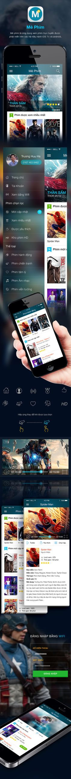 MePhim - Film App on Behance