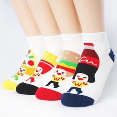 4pairs(4color)=1pack FAST FOOD FRIENDS SOCKS Made in KOREA women woman girl big #MADEINKOREA #allStyle
