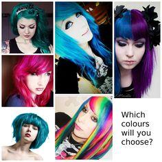 La Rich Directions Hair Dye collage