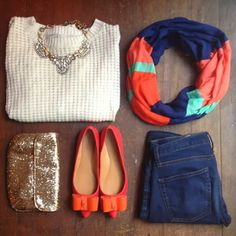 Stylish Sweater With Jeans And Scarf