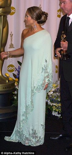 Jennifer Lopez pictured as the 75th Academy Awards in 2003...