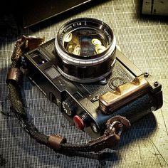 My Leica M6 w/ Custom Made Wood Grip Strap