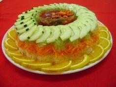 Rica rosca de zanahorias pepino y jicama
