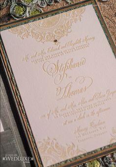 que cool sería enviar unas invitaciones así!!!!  Style File: Gone With The Wind | WedLuxe Magazine