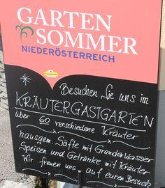 Hauseigene, frische Kräuter sind ein fixer Bestandteil in der Küche der Burgtaverne - Gasthaus Stadler in Reinsberg. Chalkboard Quotes, Art Quotes, Summer Recipes