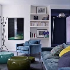 #spotted! #blue #caravane #armchair #beautiful #furniture رصد # أريكة # زرقاء # من كارافاني # أثاث # رائع