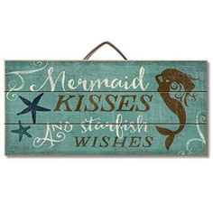 Highland Graphics Beach Decor Wood Sign Reads  If you have a toddler or a little girl , I bet they would love to live in a Little Mermaid bedroom or bathroom.   In fact the Little Mermaid home décor theme has been especially trendy for girls bedroom decoration ideas.  You can use little mermaid bedding and little mermaid bathroom décor to make a true Disney Little Mermaid princess happy!  You can also accent your little mermaid bathroom with little mermaid beach towels and little mermaid…