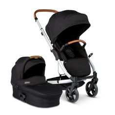 The Redsbaby JIVE Single Stroller + Bassinet (in Mist) accommodates newborns to toddlers. It's light, slim and modular in design - for the style savvy parent.