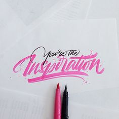 25 Outstanding calligraphy and lettering inspiration by David Milan will be shared in this post. Calligraphy and lettering inspiration is truly awesome Typography Love, Typography Quotes, Typography Letters, Graphic Design Typography, Lettering Design, Types Of Lettering, Brush Lettering, Stylo Art, Inspiration Typographie