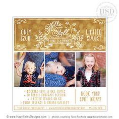 Mini Session Template, Mini Session Marketing, Advertising Template – Photoshop Templates for Photographers, Photography Marketing Templates, Photo Card Templates, Album Templates & more! – Hazy Skies Designs