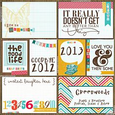 Everyday Eclectic Journaling Cards by Design by Dani  365Unscripted: Stitched Grids by Traci Reed  DJB Fonts: Nouveau Quirk by Darcy Baldwin {fontography}  Life 365 | the stamp sheet by Karla Dudley