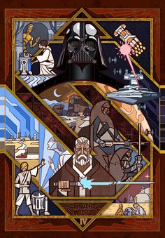 A New Hope (1/2) by Jian Guo #starwars #fanart