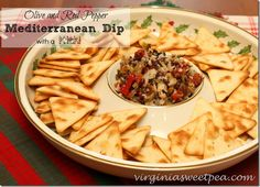 Olive and Red Pepper Mediterranean Dip {With a Kick!} - Sweet Pea