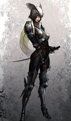 Quartz in her silver armour